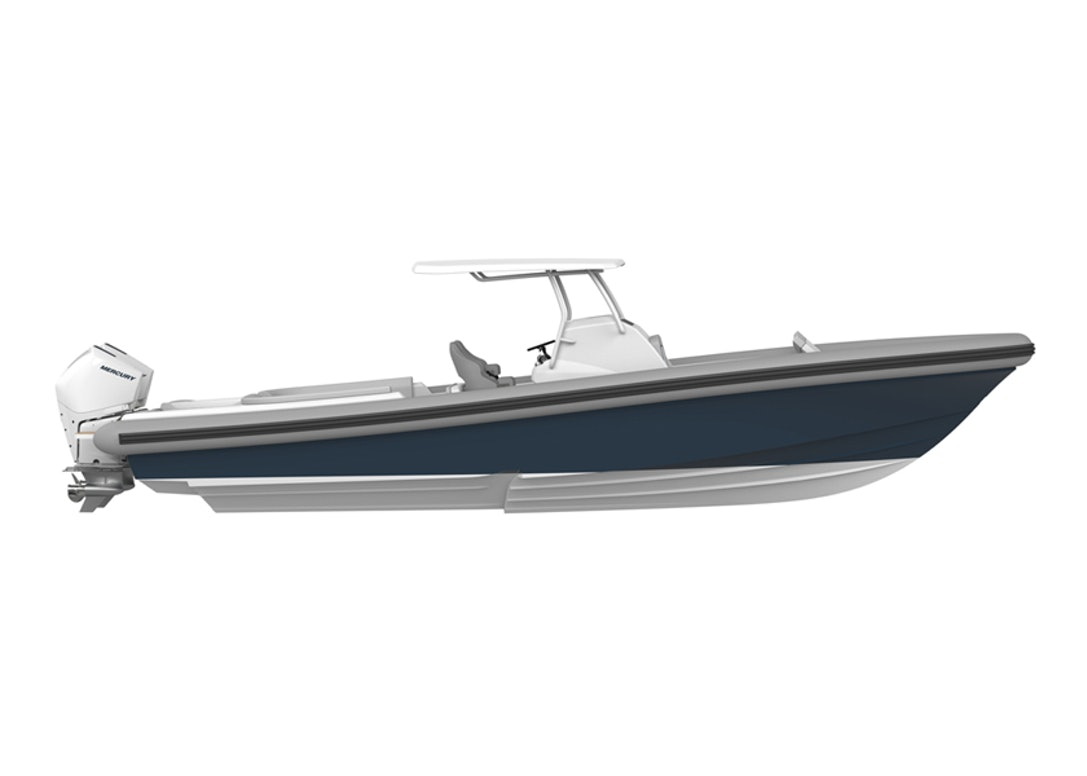 Ocean-1-Rogue-330-luxury-yacht-tender-Mercury-300-outboards-side-profile-840px